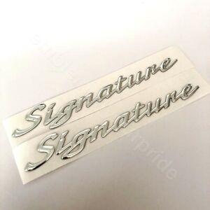 HSV VT VX VY Senator Chrome Signature Badges