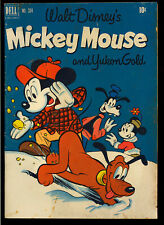 Four Color #334 (Mickey Mouse) Nice Golden Age Walt Disney Dell Comic 1951 VG+