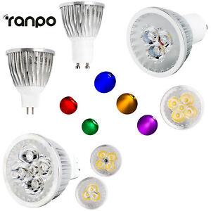 9W 12W 15W GU10 110V 220V MR16 12V Dimmable LED Spotlight Bulbs Lamp 8 Colors RH