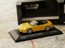 MINICHAMPS PORSCHE 911 CARRERA S CABRIOLET 2005 GELB ART.400063031 NEW DIE-CAST