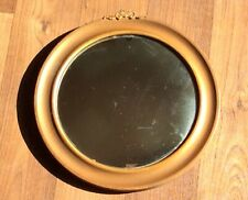 ANTIQUE VINTAGE CONVEX METAL ROUND WALL MIRROR
