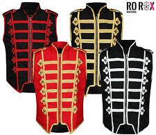 Mens Marching Band Drummer Vest Festival Sleeveless Parade Jacket Waistcoat