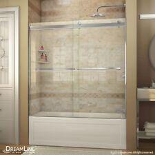 "DREAMLINE ESSENCE 56""-60"" X 60"" BYPASS SLIDING TUB DOOR, 5/16"" CLEAR GLASS"