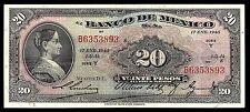 El Banco de Mexico 20 Pesos Corregidora Series Y 17.JAN.1945, P-40h VF
