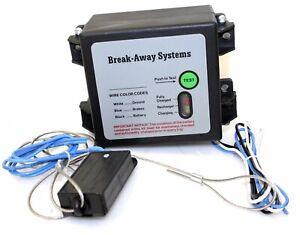 Trailer Break Away Breakaway System Kit 12v Battery Charger & Switch   RV Camper