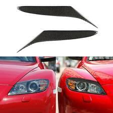 2x Carbon Fiber Car Headlight Eyebrows Eyelids for Mazda RX-8 RX8 2004-2008