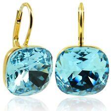 Ohrringe mit Swarovski Elements - Farbe Gold Aquamarin