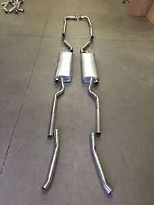 1956-1958 CORVETTE DUAL EXHAUST SYSTEM, 304 STAINLESS (WITH 1 4 BARREL CARB)