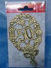 Staufen * Festliche Zahl - 50 * Gold  * Mit Draht * 4004158700764