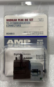 AMP 853400-3 Plug Die Set 28-26 AWG STRANDED WIRE 26-24 AWG SOLID WIRE NEW