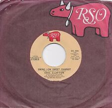 ERIC CLAPTON  Swing Low Sweet Chariot / Pretty Blue Eyes  rare 45 from 1975