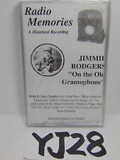 """VINTAGE AUDIO CASSETTE RADIO MEMORIES JIMMY RODGERS """"ON THE OLD GRAMOPHONE"""""""
