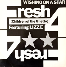 "FRESH 4 (CHILDREN OF THE GHETTO) FT LIZZ.E ‎- Wishing On A Star (12"") (VG-/G++)"
