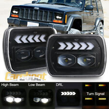 """Pair 7x6"""" 5x7"""" inch LED Headlight DRL Turn Signal Lamps for Toyota Pickup Truck"""