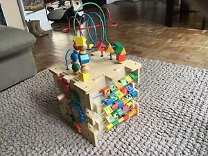 KidKraft Wooden Activity Cube toddler baby play learning block box educational