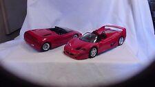 Ferrari F50 1/18th scale Burago &         Mythos  1/18th scale Revell