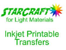 """StarCraft Inkjet Printable HTV Transfer 8.5""""x11"""" Sheet White Light Materials"""
