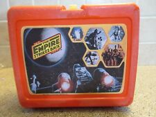 "1980 Star Wars Red "" The Empire Strikes Back "" Plastic Thermos Lunchbox"