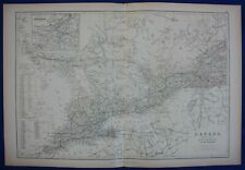 CANADA, ONTARIO, MONTREAL, QUEBEC, original antique map, Blackie, 1884