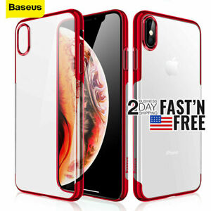 Baseus iPhone Xs Max Xs XR X Slim Clear Bumper Crystal Case Plating Cover