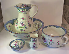 Bishop & Stonier Bisto English Seven Piece Vanity/ Wash Set~Lovely & Rare~ca1891