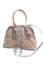 GUESS Handbag *Cheatin Heart Brown Multicolor Satchel Shoulder Purse Tote $128