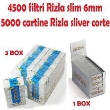 5000 cartine Rizla Silver corte + 4500 filtri slim Rizla + ACCENDINO OMAGGIO