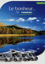 Prospectus chausson voyage Mobile 2012 brochure camping-car Twist Flash Sweet Welcome