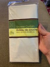 """White Standard Size 70"""" X 72"""" Shower Curtain New In Package (CT)"""
