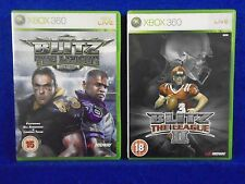 xbox 360 BLITZ THE LEAGUE x2 Games I + II 1 + 2 American Football UK REGION FREE
