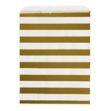 24 Papiertüten gestreift in gold & weiß Weihnachten Hochzeit Candybar Geschenke