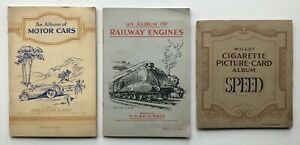 Cig Cards - Cars/Railway Engines/Speed (Player/Wills) 3 Full Sets In Albums