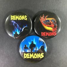 "Demons 2.25"" Pin Button Set Horror Cult Classic Movie Lamberto Bava Accept Saxon"