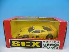 83450 SCX Ferrari F40 in Yellow, boxed