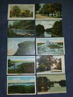 10 VERY OLD POSTCARDS ,USED , GROUP #2