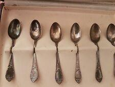 6 cucchiaini per caffè metà 900 manico stile impero in argento 800 con scatola