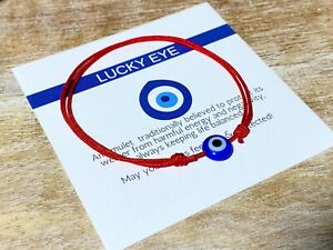 Lucky Eye Waterproof Bracelet Blue Evil Eye Red String Protection Men Women