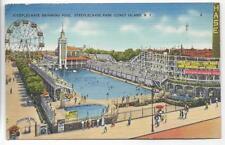 COASTER,FERRIS WHEEL,POOL,STEEPLECHASE PARK,CONEY ISLAND,NY -PM 1943