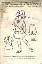 Wilkinson Sewing Pattern, Child's Vintage Guide Uniform, Size 71cm Bust, Precut