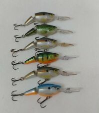 (6) Rapala Jointed Shad Rap JSR-5 crankbaits, Lot of 6 fishing lures