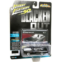 JOHNNY LIGHTNING JLCP7260 B BLACKED OUT 1971 DODGE DEMON 340 1/64 BK WHITE HOOD