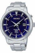 SEIKO SUN031P1,Men's KINETIC GMT,Stainless Case & Bracelet,date,100M WR,SUN031