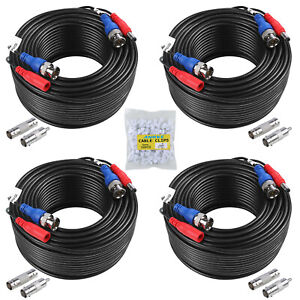 SANNCE 4x100ft Security Camera Video Power Cable BNC RCA CCTV DVR Extension Cord