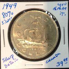 1949 Canadian 80% Silver Dollar