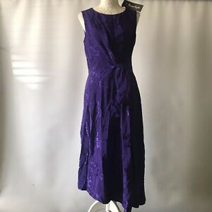 Phase Eight Violet Dress Cocktail Gown Embroidered Special Occasion UK 12 BNWT