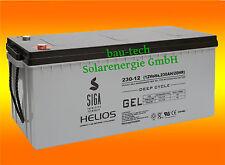 Blei Gel Batterie 230Ah 12V Akku Solar Photovoltaik Batterie ZYKLENFEST 200Ah