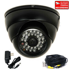 "Security Camera Dome 700TVL Wide Angle Outdoor Night w/ 1/3"" SONY Effio CCD W59"