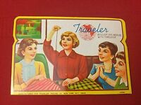 New Complete VINTAGE TRAVELER NEEDLE BOOK WITH THREADER Silver Eye Needles