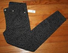 NWT Womens GAP Denim Legging Jeans Mid Rise Jeggings Skinny Black Leopard Print