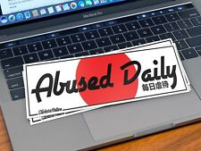Abused daily printed sticker decal JDM Japanese flag stance slap lowered fitment